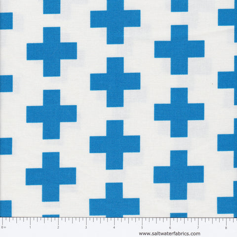 Geo Pop Canvas - Cross in Blue