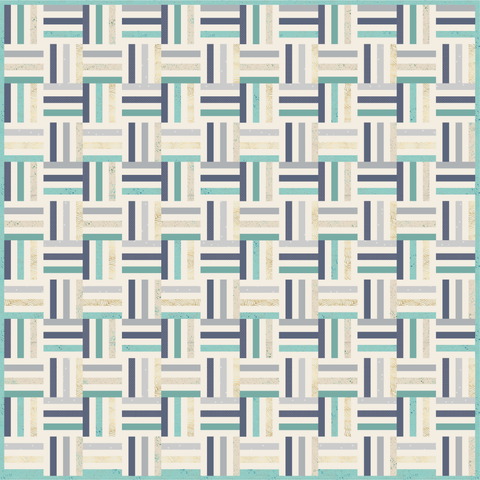 Joyful Stripes in Ocean Tides Quilt Kit
