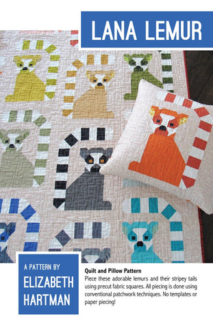 Lana Lemur Quilt & Pillow Pattern