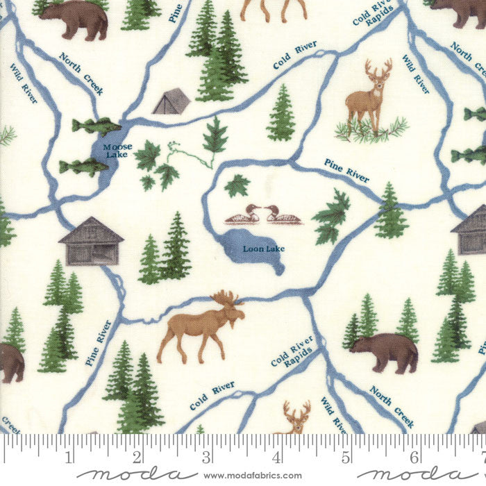 River Journey - Map in Cream