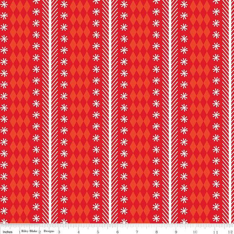 Nutcracker Christmas - Nutcracker Stripe in Red