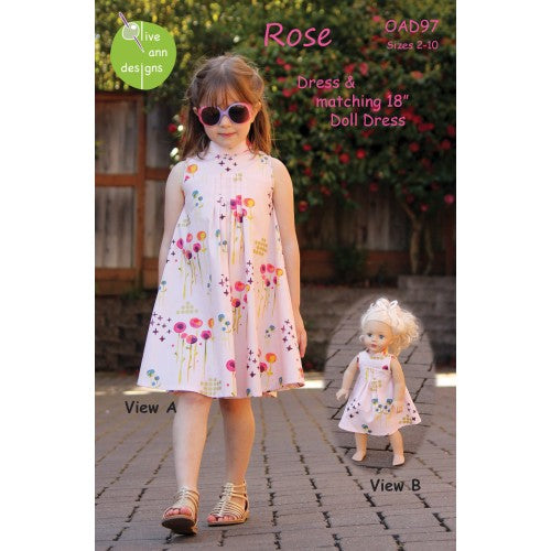 Rose Dress & Matching Doll Dress Pattern