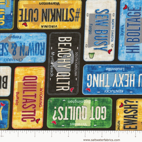 Row By Row 2016 - License Plates in Multi