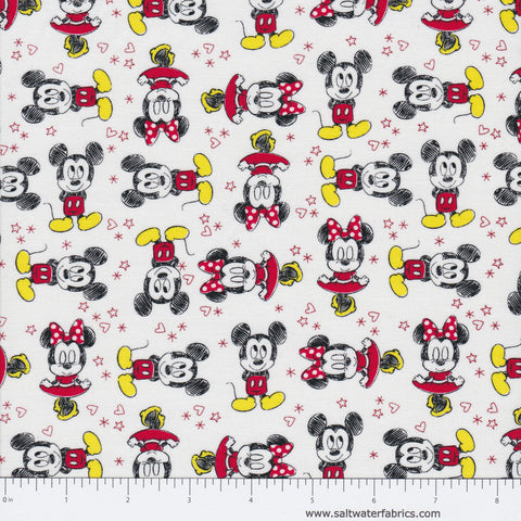 Mickey Mouse And Friends - Mickey & Minnie in White