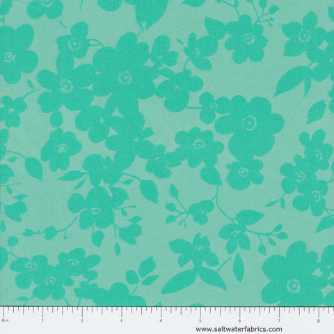 "108"" Modern Quilt Back - Floral in Teal"