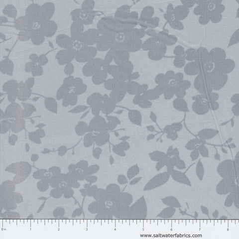 "108"" Modern Quilt Back - Floral in Silver"