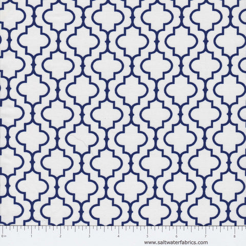 "108"" Metro Wide - Quatrefoil in Navy"