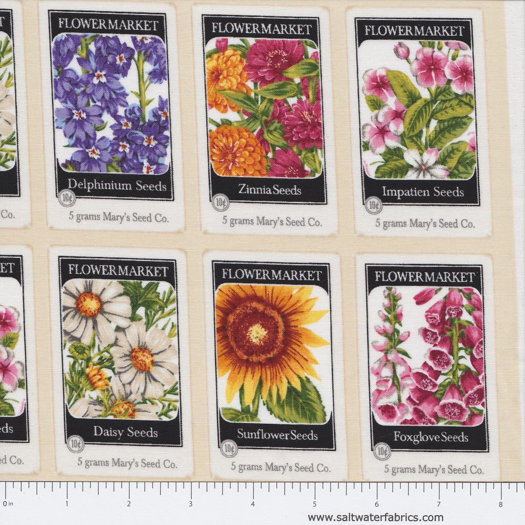 Everyday Favorites - Flower Seed Packets in Ivory
