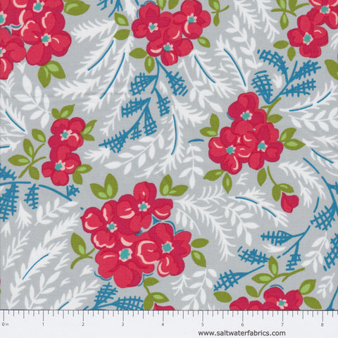 Hazel - Large Floral in Grey