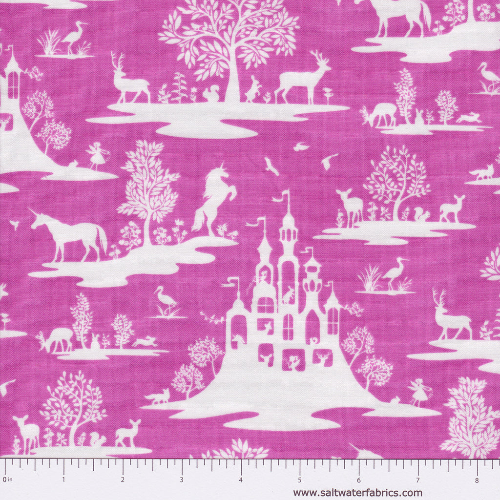 Pixie Dust - Fairy Toile in Fuchsia