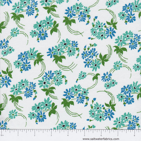 Hazel - Floral Swirl in White