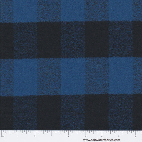 Mammoth Flannel - Buffalo Plaid in Blue