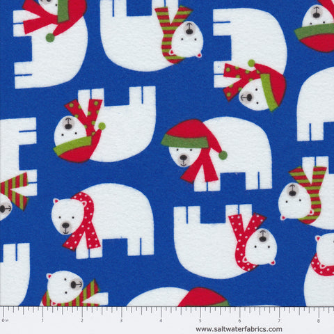 Jingle Flannel - Polar Bears in Winter