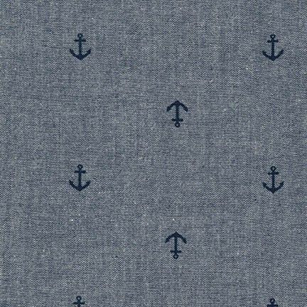 Chambray Anchors in Indigo