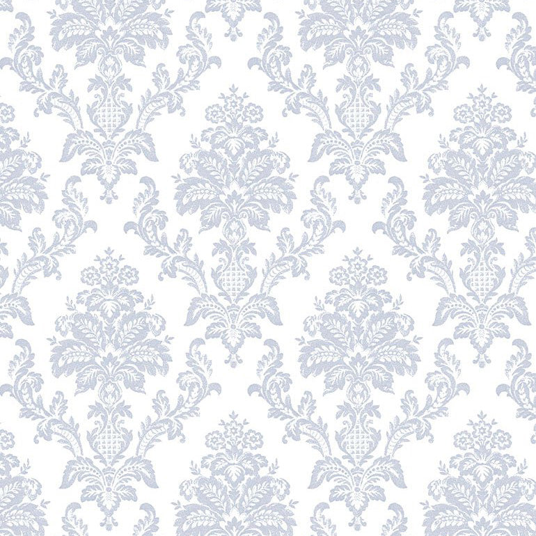 Chop It Like It's Hot - Heirloom Damask in White