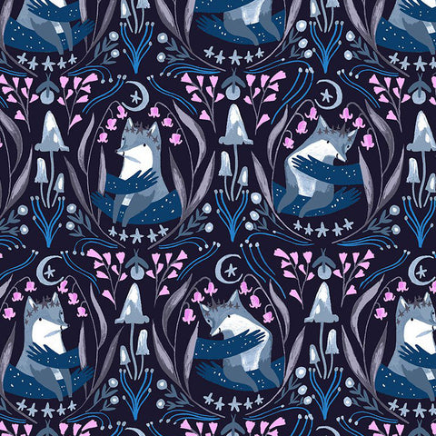 Lantern Light - Foxes in Indigo