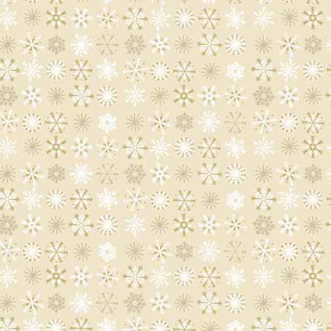 Traditional Metallic Christmas - Snowflakes in Gold