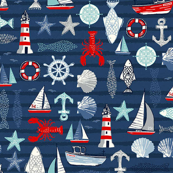 Sail Away - Icons in Blue