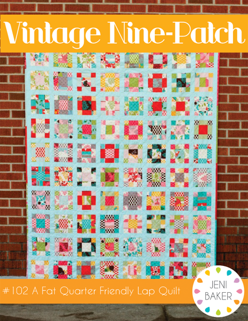 Vintage Nine-Patch Quilt Pattern