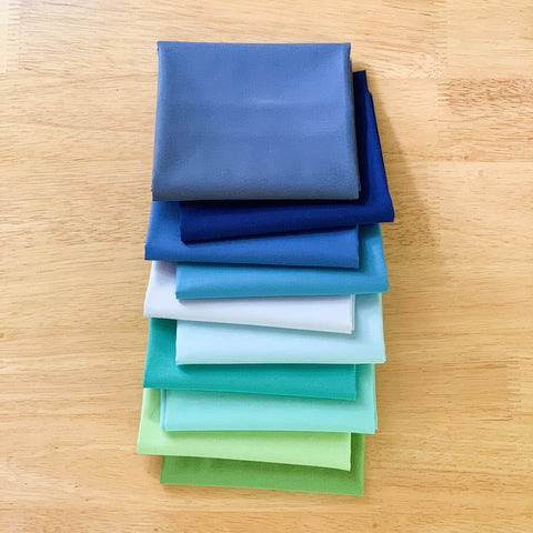 By The Bay Solids Fat Quarter Bundle