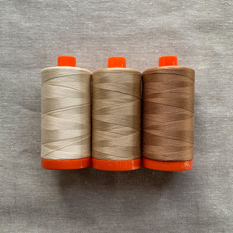 Aurifil Thread Pack in Cafe Au Lait