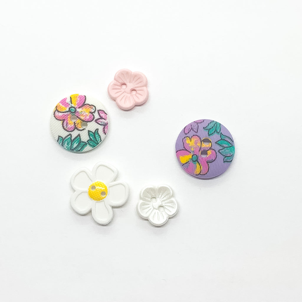 Button Pack in Daisies