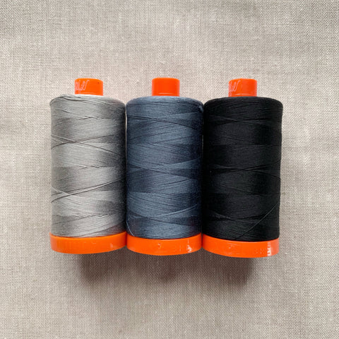 Aurifil Thread Pack in Dark Neutrals