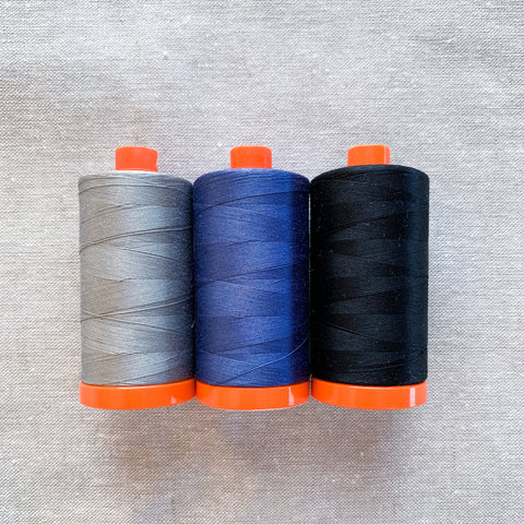 Aurifil Thread Pack - Essentials in Dark