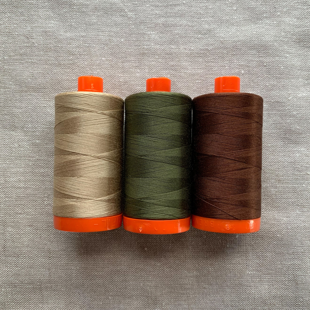 Aurifil Thread Pack in Forest