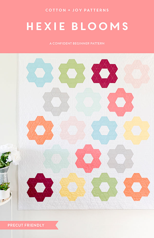Hexie Blooms Quilt Pattern