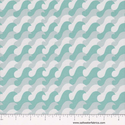 Nautical Treasure - Waves in Dark Turquoise