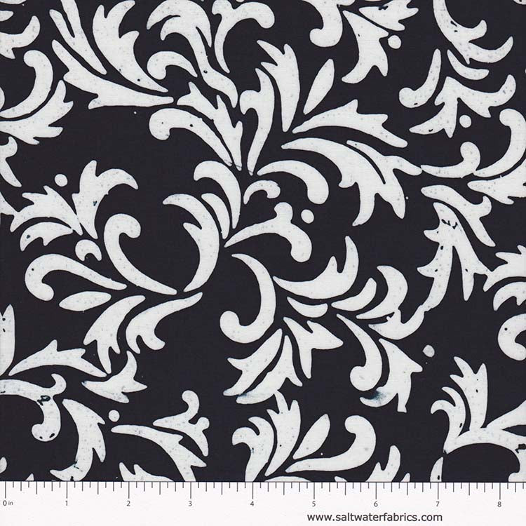 Fresh Batiks - Botanica in Black