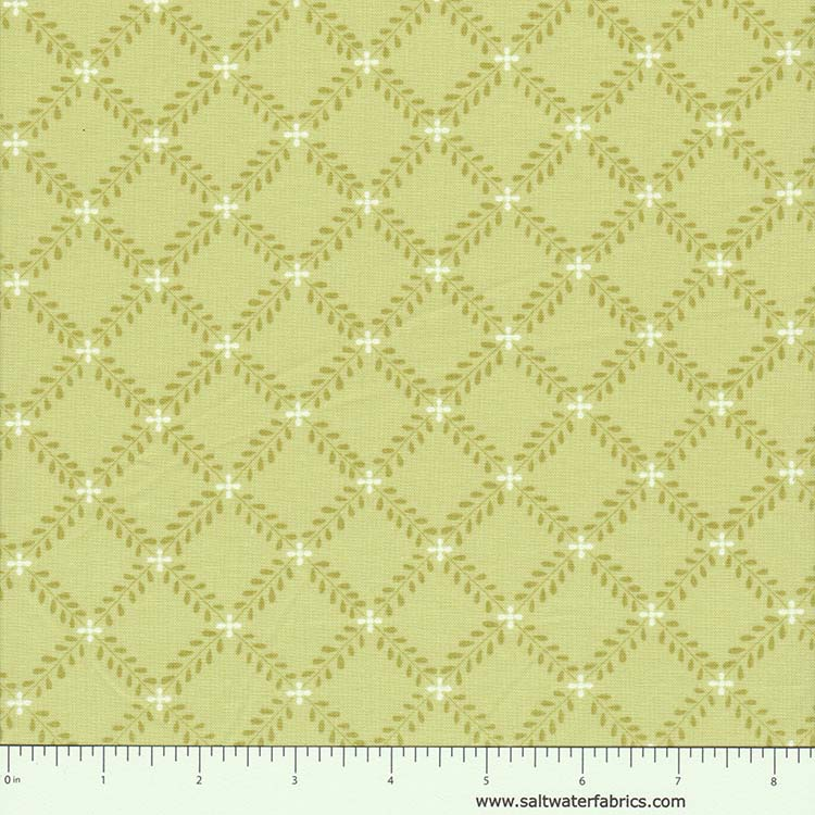 Windermere - Fern Lattice in Light Green