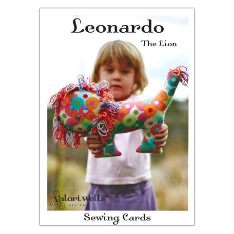 Leonardo The Lion Sewing Card Pattern