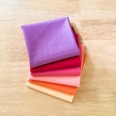 Sunset Solids Fat Quarter Bundle