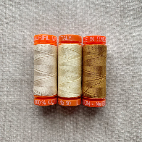Aurifil Thread Pack in Warm Neutrals