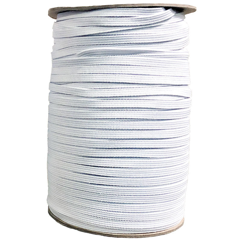 "1/4"" Soft Elastic in White"