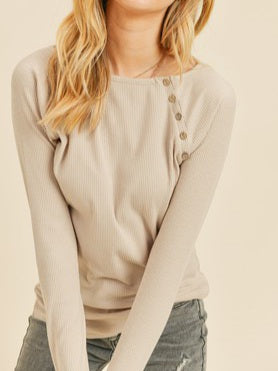 Marlow Ribbed Long Sleeve Top