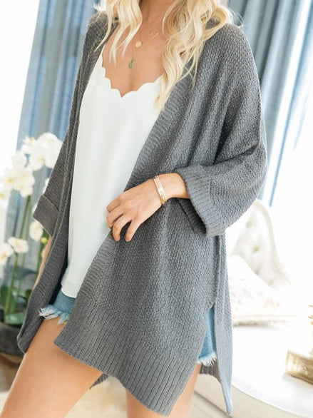 London Cardigan in Grey