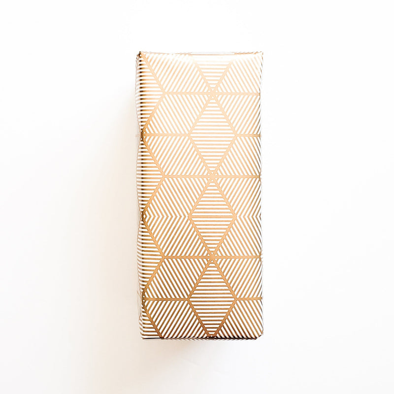 Vanilla Shortbread in Gold Geometric Wrap - Food - GIFTABLE GOODIES