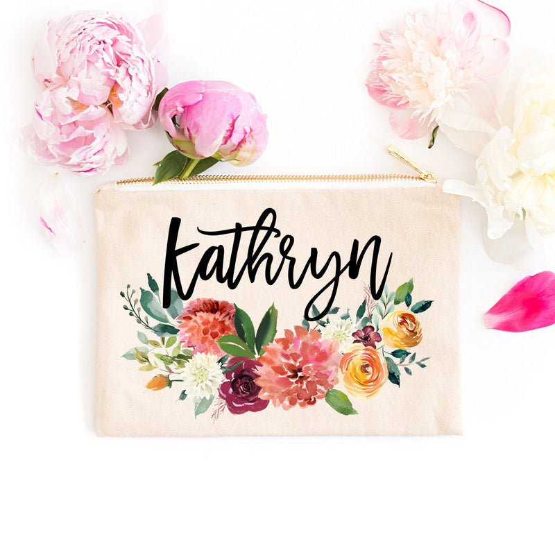 "Personalized Makeup Bag ""The Kathryn"" - Cosmetic Bag - GIFTABLE GOODIES"