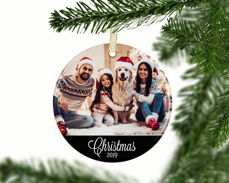Personalized Photo Family Christmas Ornament