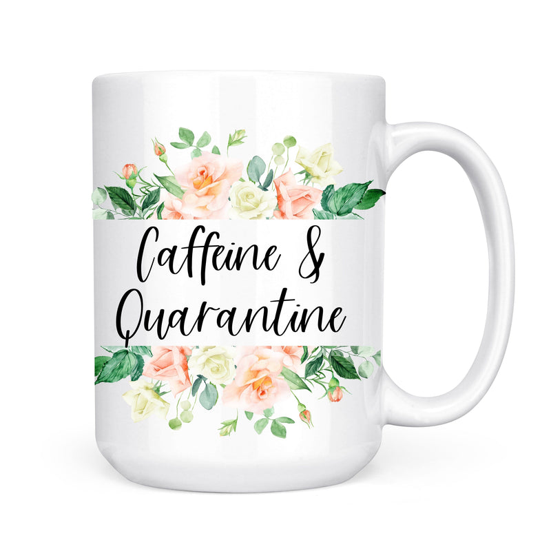 Caffeine & Quarantine Mug - Coffee Mug - GIFTABLE GOODIES