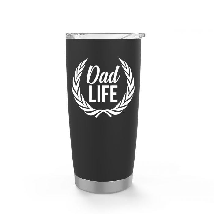 Dad Life Crest Black Stainless Steel Tumbler - Tumbler - GIFTABLE GOODIES