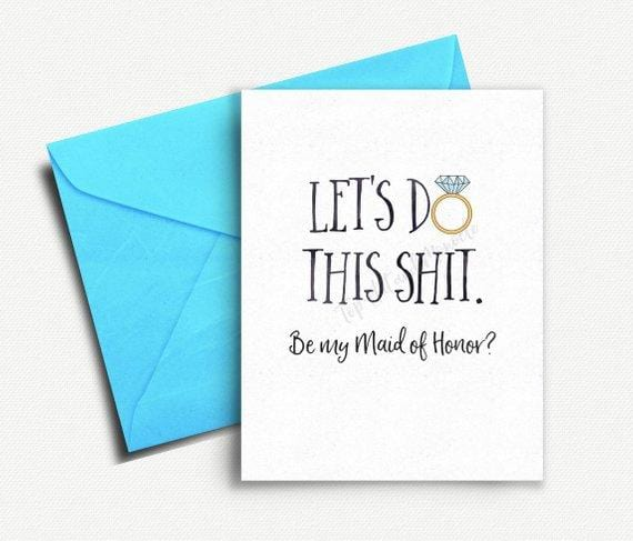 Will You Be My Maid of Honor Card - Greeting Card - GIFTABLE GOODIES