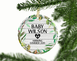 Pregnancy Ornament, New Baby Christmas Ornament, Pregnancy Announcement, Personalized Gift, Baby Shower Gift, Baby's First Christmas