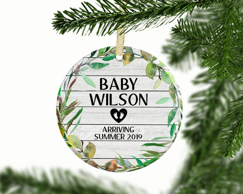 Pregnancy Custom Ornament, New Baby Personalized Custom Ornament - Ornament - GIFTABLE GOODIES