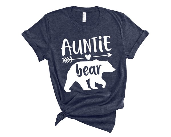 Auntie Bear Crew Neck Shirt - T-Shirts - GIFTABLE GOODIES