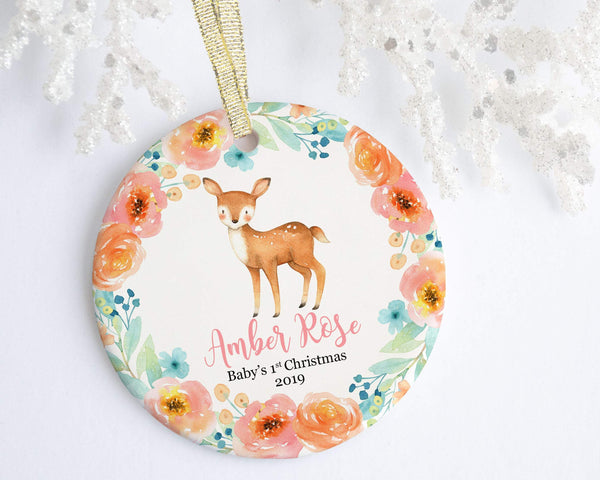 Deer Baby 1st Christmas Ornament - Ornament - GIFTABLE GOODIES