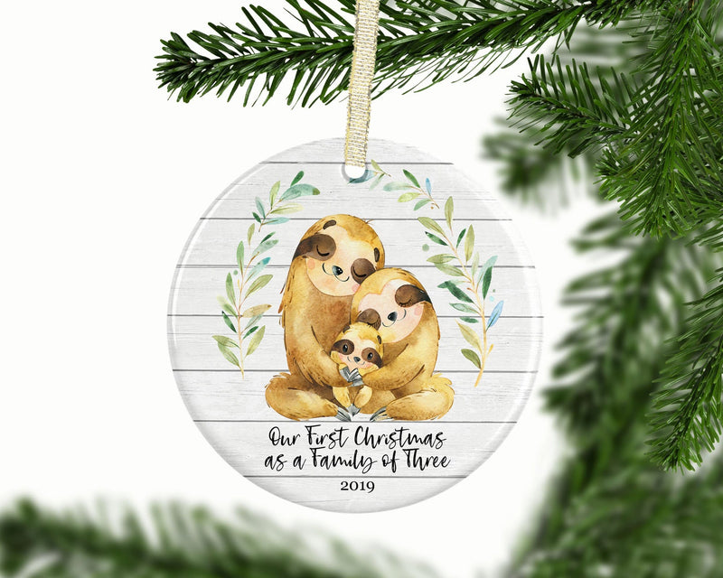 Sloth Family of 3 Christmas Ornament - Ornament - GIFTABLE GOODIES